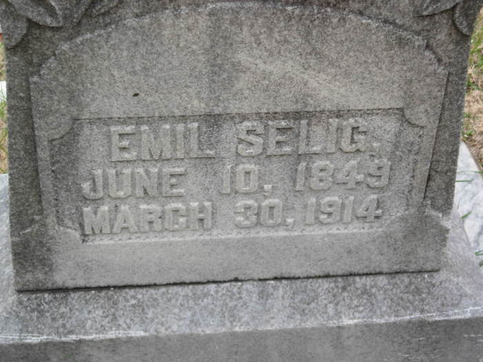 Emil Selig Tombstone