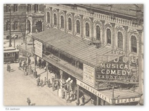 The Bijou Theater, Atlanta, Georgia -- ironically, adjacent to where Leo Frank Trial was held