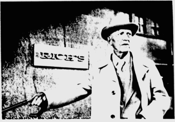 Alonzo Mann, 83, stands outside an Atlanta department store at the site where 14-year-old Mary Phagan was murdered in 1913. After nearly 70 years, Mann now says he is convinced a Jewish factory superintendent, who was imprisoned and later lynched in a wave of anti-Semitism, was innocent of the crime. (UPI photo)