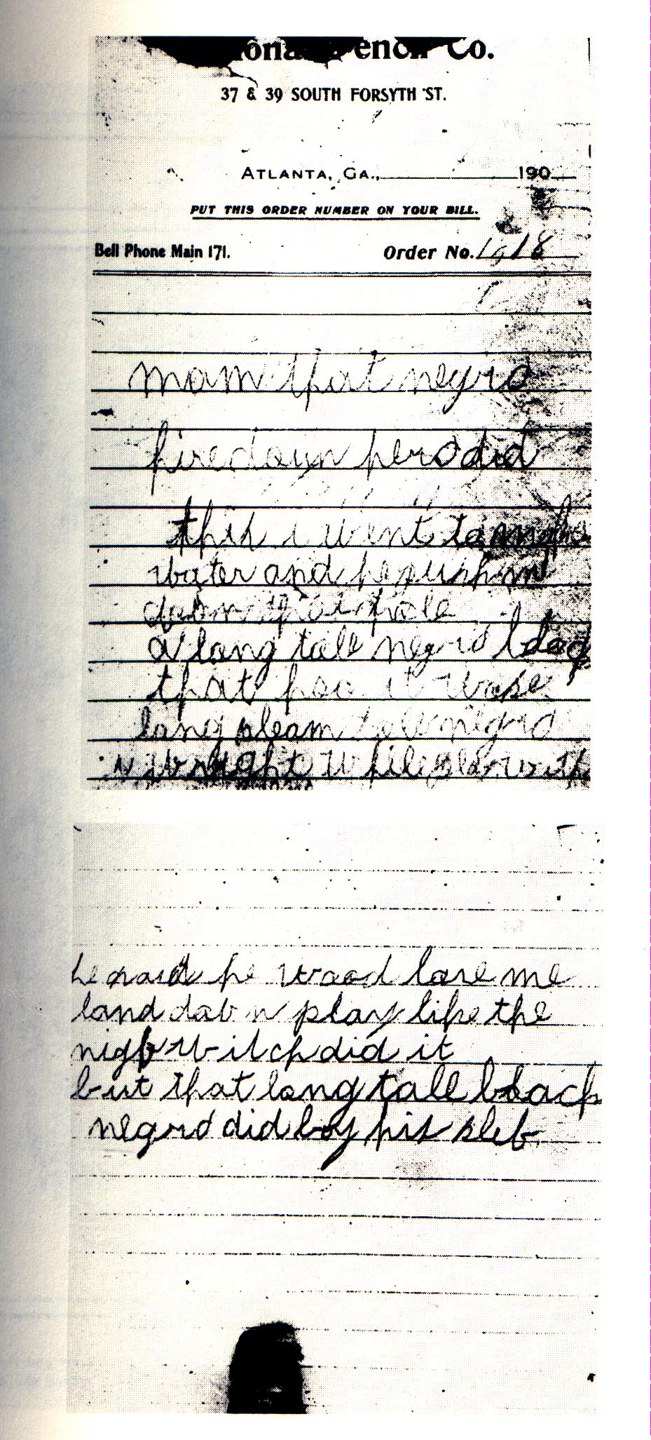 """""""Death"""" Notes, aka """"Murder Notes"""": Jim Conley Testified to ... Trial Jury"""