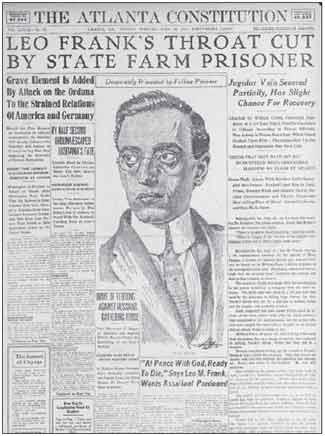 Leo Frank Newspaper