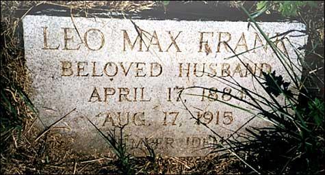 Leo Frank tombstone