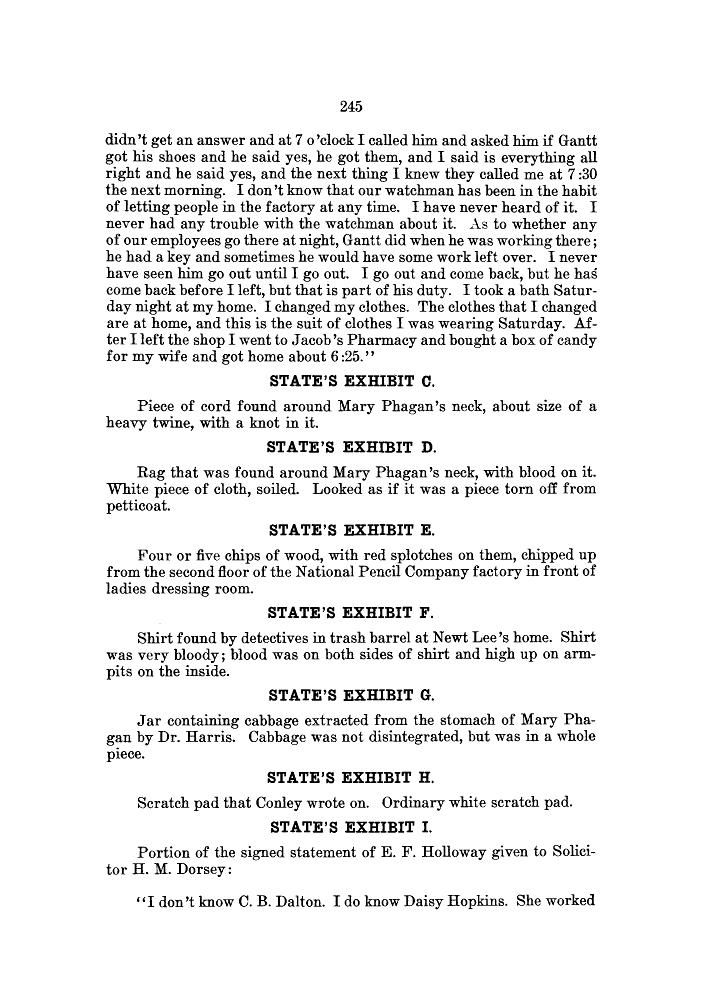 Leo Frank State's Exhibit B, part 3, Monday April 28, 1913