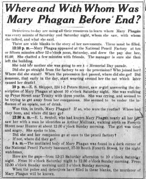 Where and With Whom Was Mary Phagan Before End