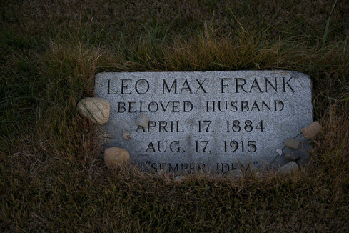 Leo Frank's grave: his wife left instructions that she was not to be buried beside him