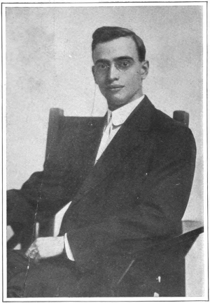 Leo Frank posing for Collier's Weekly. The photo would later become the front cover for the book The Truth About the Frank Case by C.P. Connolly.