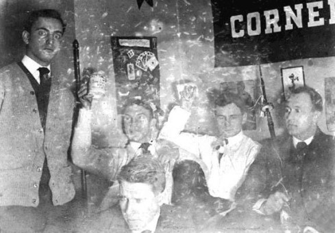 Leo Frank, far left, with classmates at Cornell University