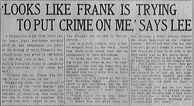 'Looks like Frank is Trying to Put the Crime on Me'