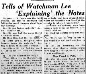 Tells of Watchman Lee 'Explaining' the Notes