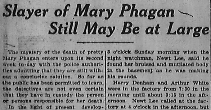 Slayer of Mary Phagan May Still Be At Large