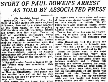 Story of Paul Bowens Arrest as Told by Associated Press