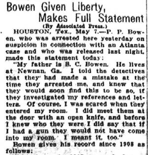 Bowen Given Liberty