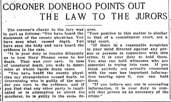 Coroner Donehoo Points Out the Law