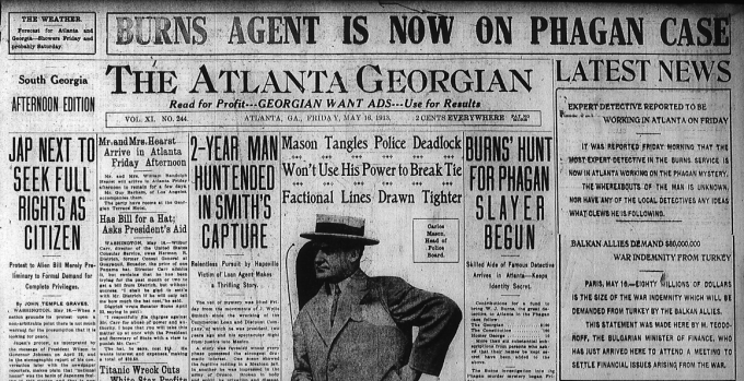 Burns Hunt for Phagan Slayer Begun