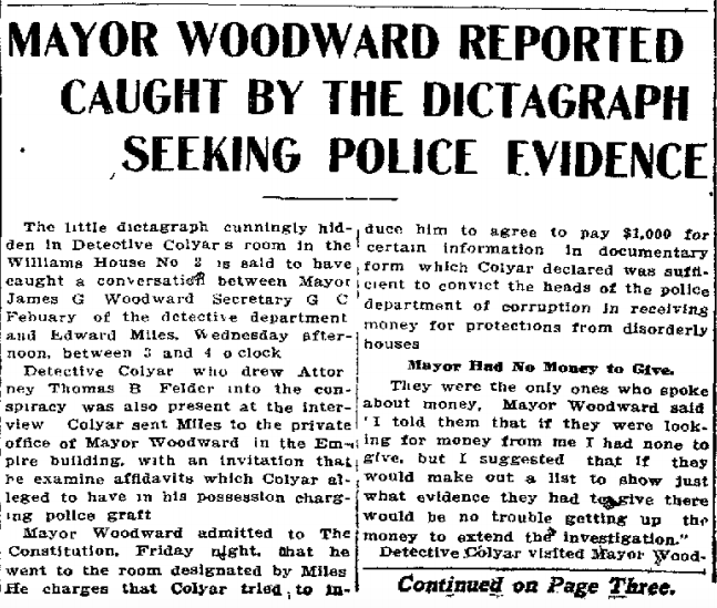 Mayor Woodward Reported