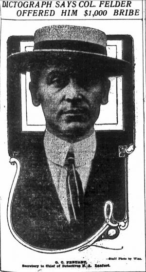G. C. Febuary, Secretary to Chief of Detectives N. A. Lanford.