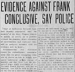 Evidence Against Frank