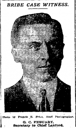 G. C. Febuary, Secretary to Chief Lanford.