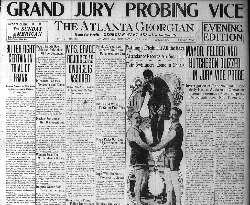 Bitter Fight Certain in Trial of Frank – The Leo Frank Case Research